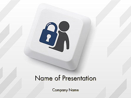 Online Privacy PowerPoint Template, 12618, Careers/Industry — PoweredTemplate.com