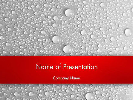 Abstract/Textures: Water Drops Background PowerPoint Template #12619