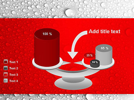 Water Drops Background PowerPoint Template Slide 10