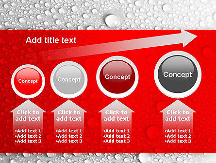 Water Drops Background PowerPoint Template Slide 13