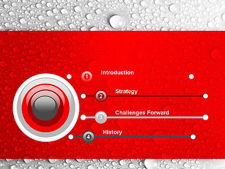 Water Drops Background PowerPoint Template, Slide 3, 12619, Abstract/Textures — PoweredTemplate.com