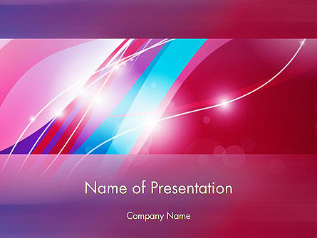 Colorful Abstract Fantasy PowerPoint Template, 12620, Abstract/Textures — PoweredTemplate.com
