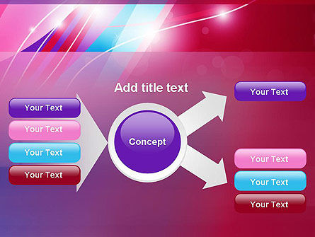 Colorful Abstract Fantasy PowerPoint Template Slide 14