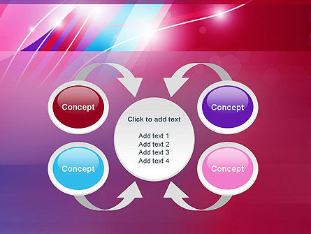 Colorful Abstract Fantasy PowerPoint Template Slide 6