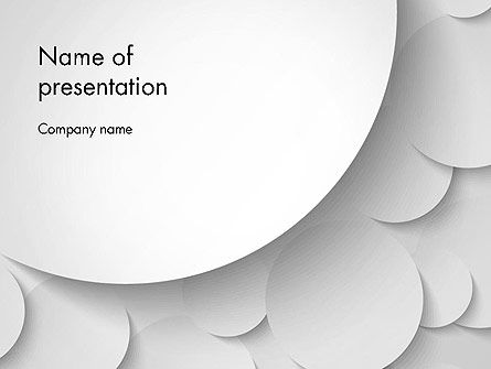 Abstract Gray Circles PowerPoint Template