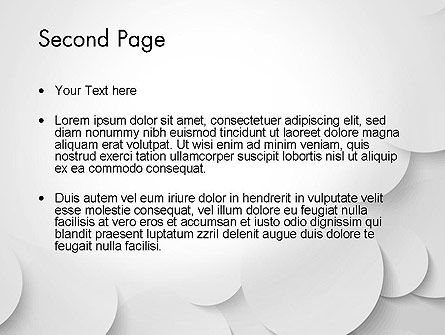 Abstract Gray Circles PowerPoint Template Slide 2