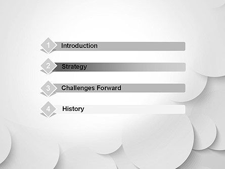 Abstract Gray Circles PowerPoint Template Slide 3