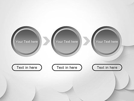 Abstract Gray Circles PowerPoint Template Slide 5