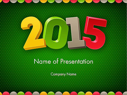 2015 Colored Numbers PowerPoint Template