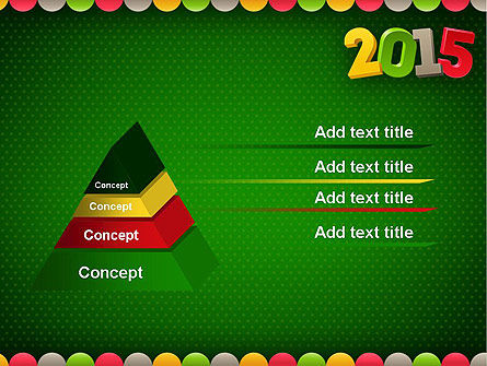 2015 Colored Numbers PowerPoint Template Slide 12