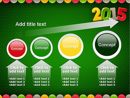 2015 Colored Numbers PowerPoint Template Slide 13
