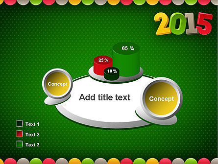 2015 Colored Numbers PowerPoint Template Slide 16
