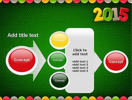 2015 Colored Numbers PowerPoint Template Slide 17