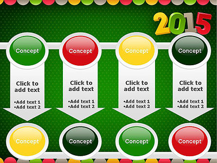 2015 Colored Numbers PowerPoint Template Slide 18
