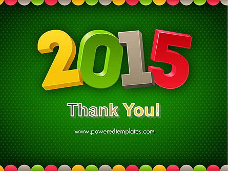 2015 Colored Numbers PowerPoint Template Slide 20
