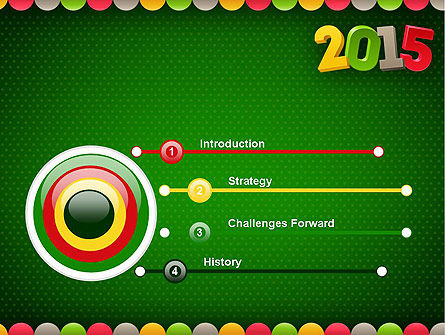 2015 Colored Numbers PowerPoint Template Slide 3