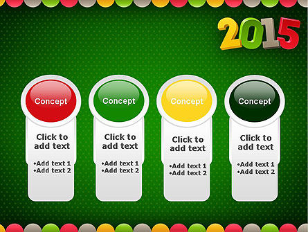 2015 Colored Numbers PowerPoint Template Slide 5