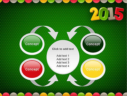 2015 Colored Numbers PowerPoint Template Slide 6