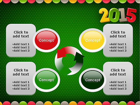 2015 Colored Numbers PowerPoint Template Slide 9