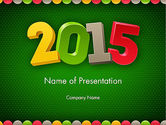 Holiday/Special Occasion: 2015 Colored Numbers PowerPoint Template #12622