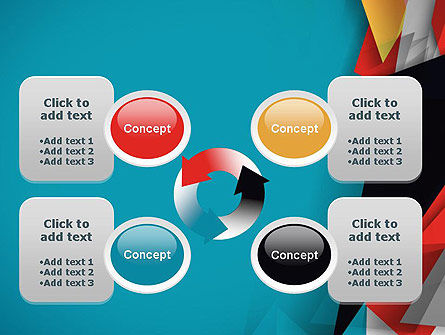 Abstract Paper Applique PowerPoint Template Slide 9