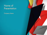 Abstract/Textures: Abstract Paper Applique PowerPoint Template #12623