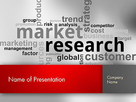 Market Research Word Cloud PowerPoint Template