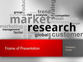 Careers/Industry: Market Research Word Cloud PowerPoint Template #12624