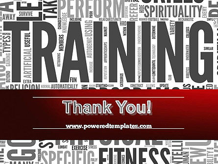 Training Word Cloud PowerPoint Template Slide 20