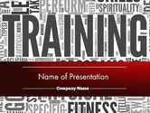 Education & Training: Training Word Cloud PowerPoint Template #12630