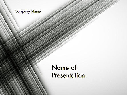 Abstract Intersecting Black Lines PowerPoint Template