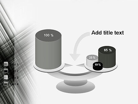 Abstract Intersecting Black Lines PowerPoint Template Slide 10