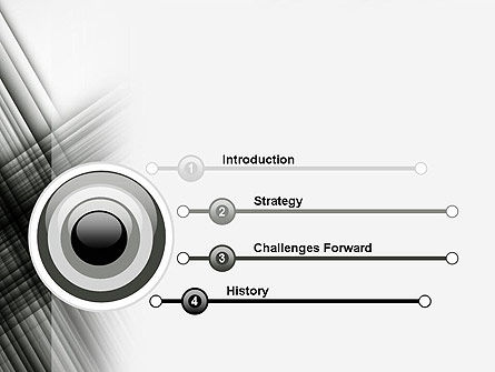Abstract Intersecting Black Lines PowerPoint Template Slide 3
