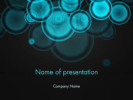Azure Abstract Circles PowerPoint Template