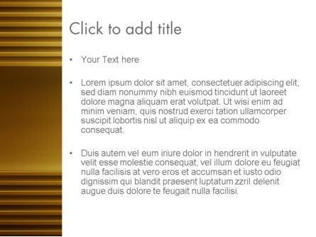 Abstract Golden Horizontal Lines PowerPoint Template, Slide 3, 12635, Abstract/Textures — PoweredTemplate.com