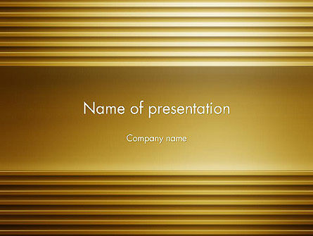 Abstract/Textures: Abstract Golden Horizontal Lines PowerPoint Template #12635