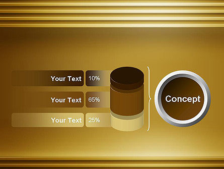 Abstract Golden Horizontal Lines PowerPoint Template Slide 11