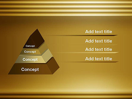 Abstract Golden Horizontal Lines PowerPoint Template Slide 12