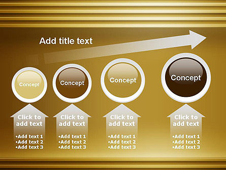 Abstract Golden Horizontal Lines PowerPoint Template Slide 13