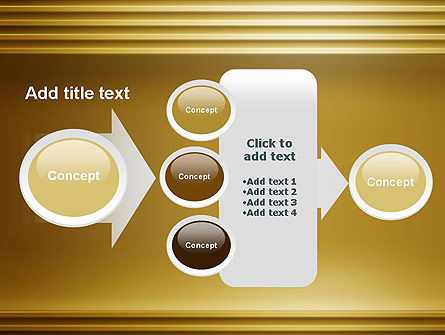 Abstract Golden Horizontal Lines PowerPoint Template Slide 17