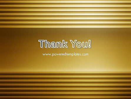 Abstract Golden Horizontal Lines PowerPoint Template Slide 20
