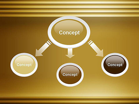 Abstract Golden Horizontal Lines PowerPoint Template Slide 4