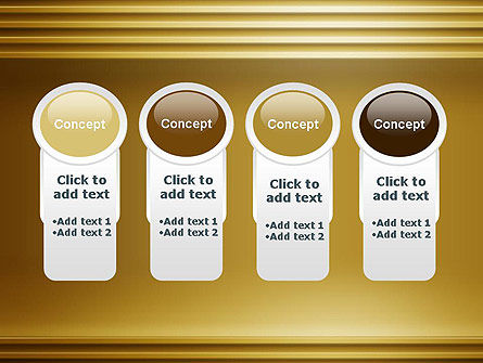 Abstract Golden Horizontal Lines PowerPoint Template Slide 5