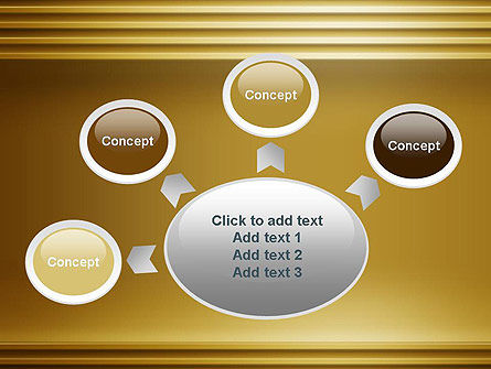 Abstract Golden Horizontal Lines PowerPoint Template Slide 7