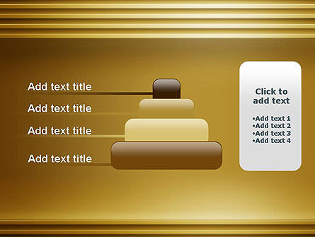 Abstract Golden Horizontal Lines PowerPoint Template Slide 8