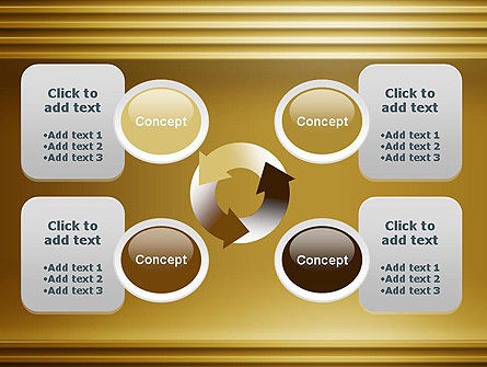 Abstract Golden Horizontal Lines PowerPoint Template Slide 9