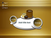 Abstract Golden Horizontal Lines PowerPoint Template#16