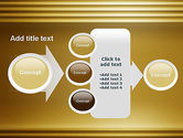 Abstract Golden Horizontal Lines PowerPoint Template#17