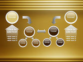 Abstract Golden Horizontal Lines PowerPoint Template#19