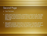 Abstract Golden Horizontal Lines PowerPoint Template#2